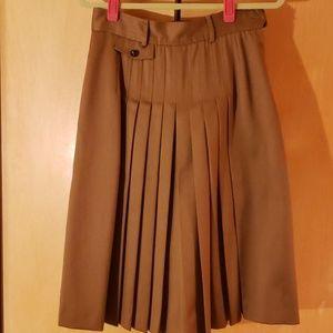 Beautiful dark tan wool skirt